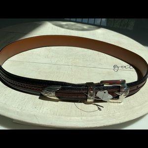 Brighton  Onyx two tone leather belt